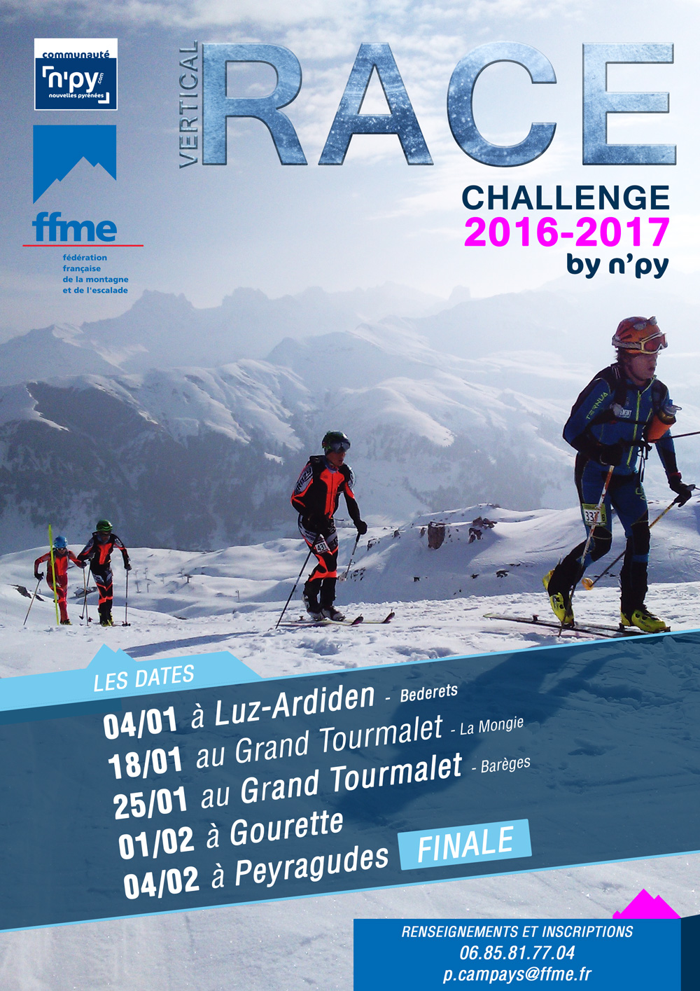 Affiche vertical race challenge by N'Py 2017