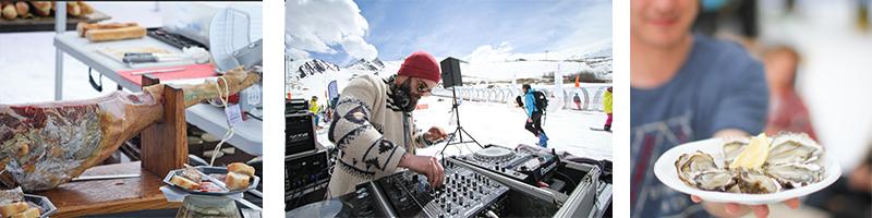 De nombreuses alternatives au ski sont proposées sur les pistes: musique, détente, gastronomie...