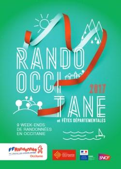 affiche rando occitane fêtes départementale