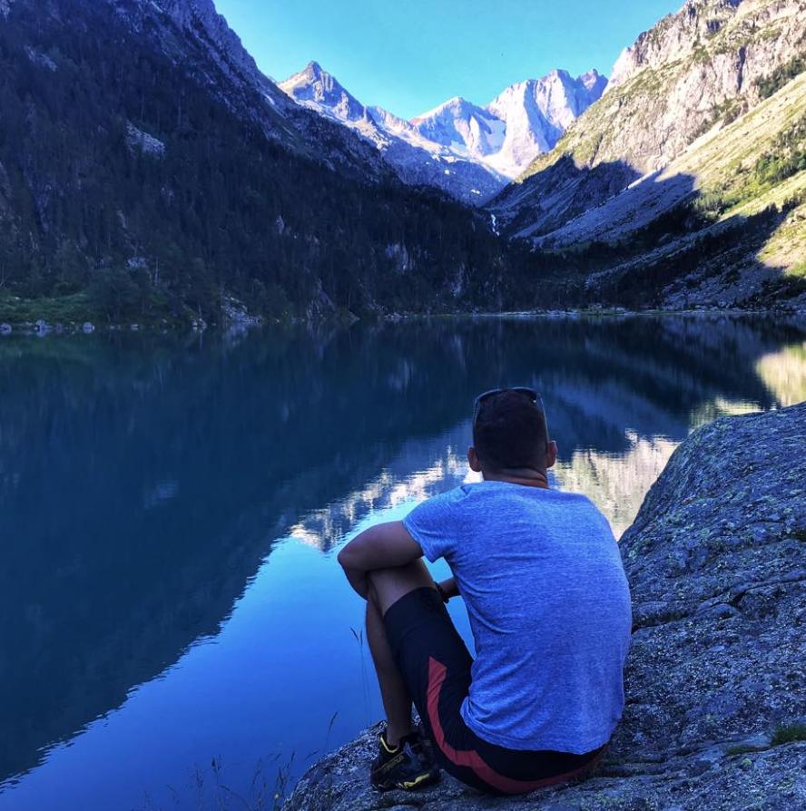 Sean Carroll au lac de Gaube à Cauterets - Pyrénées (Photo Sean Carroll)