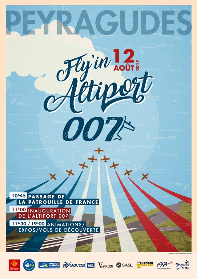 Inauguration de l'altiport007 à Peyragudes