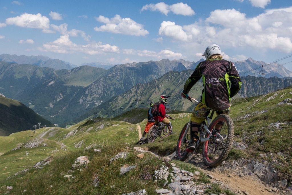 Descente VTT sur le bike park de Cauterets - Pyrénées