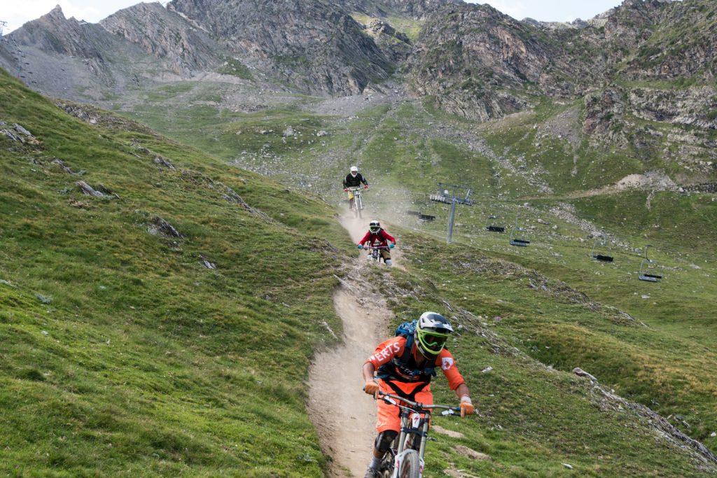 Descente en VTT sur le bike park de Cauterets - Pyrénées