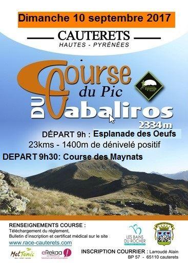 Course du Pic du Cabaliros et course des Maynats à Cauterets - Pyrénées