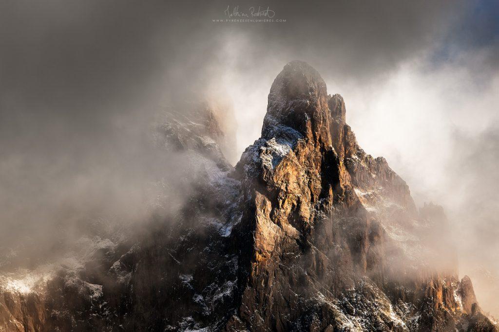 Face nord de l'Ossau - Pyrénées - Photo : Matthieu Roubinet