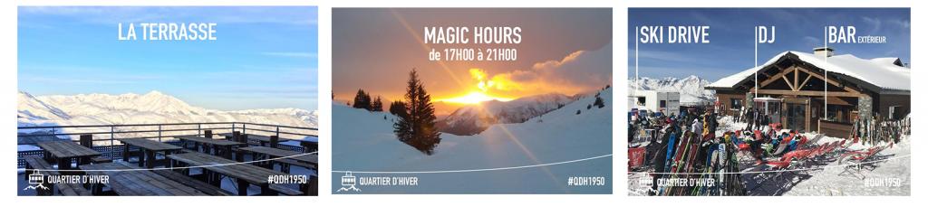 """Soirées insolites - """"Magic Hour"""" au restaurant d'altitude """"Quartiers d'hiver"""" à Peyragudes - Pyrénées"""